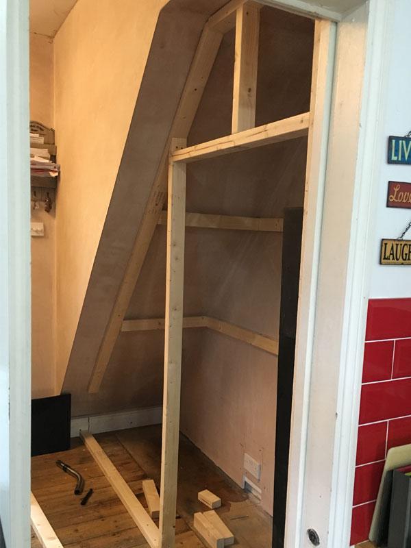 Building Understair Cupboard 1