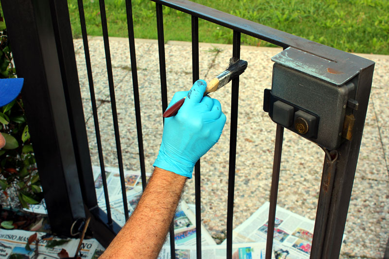 Painting a Garden Gate in Walthamstow