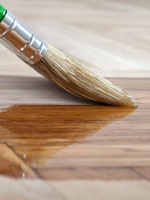 Wooden Floor Being Varnished