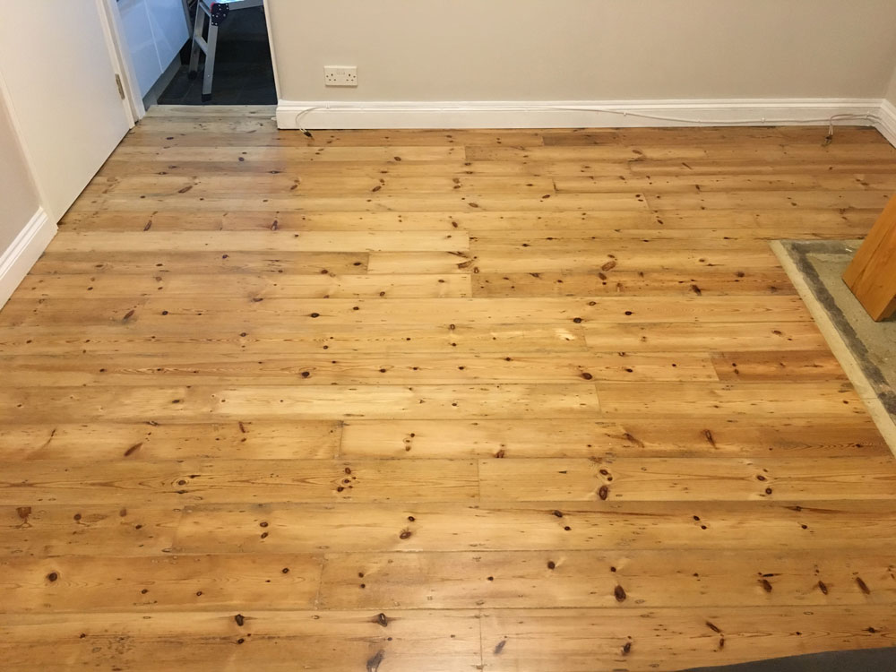 Sanded and Varnished Floor