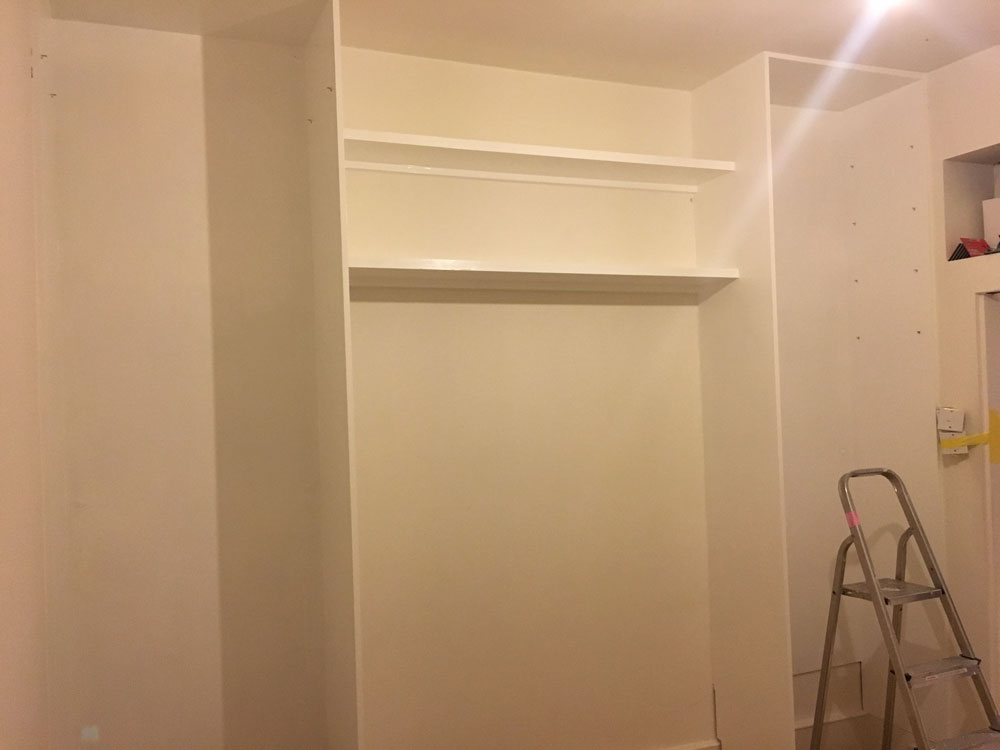 Unfinished Open Wardrobe 3