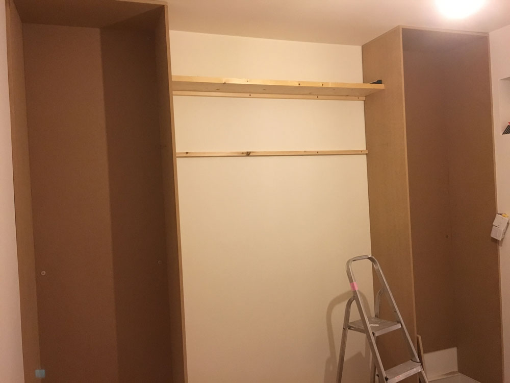 Unfinished Open Wardrobe 2