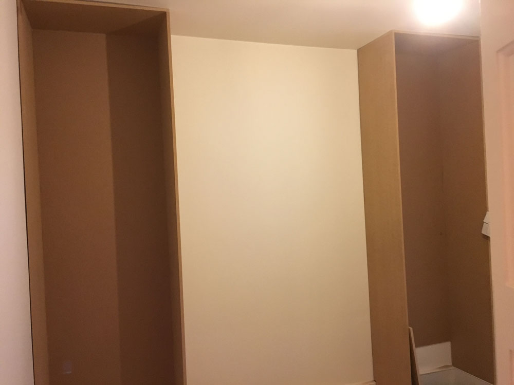 Unfinished Open Wardrobe