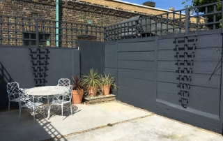 Dark grey paited walls