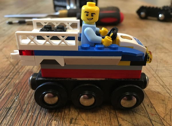 Lego Wooden Police Train