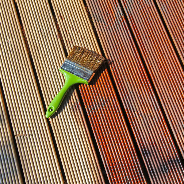 Decking Being Treated