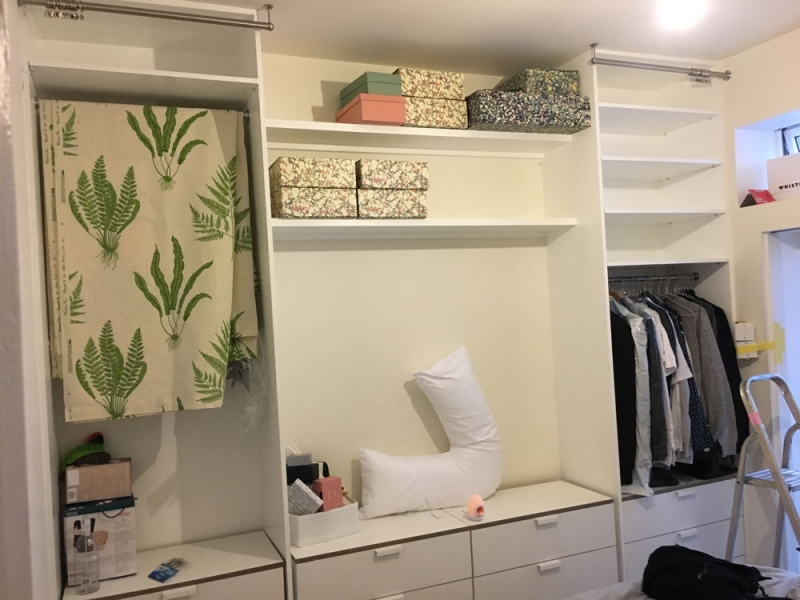 Space Saving Open Wardrobe