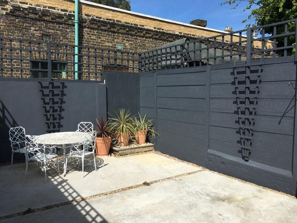 Dark grey paited walls